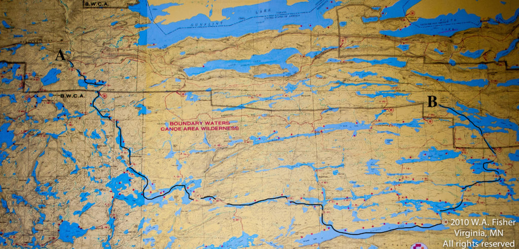 BWCA Routes, Cross Bay-Poplar Route