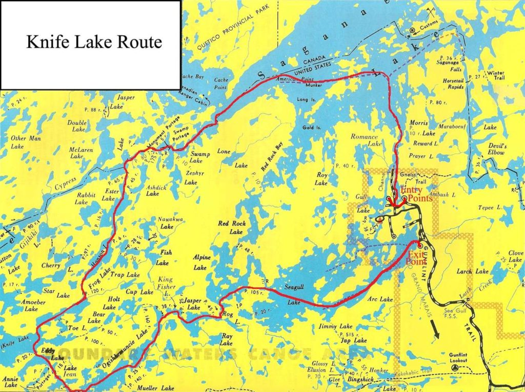 BWCA Routes, Knife Lake Route
