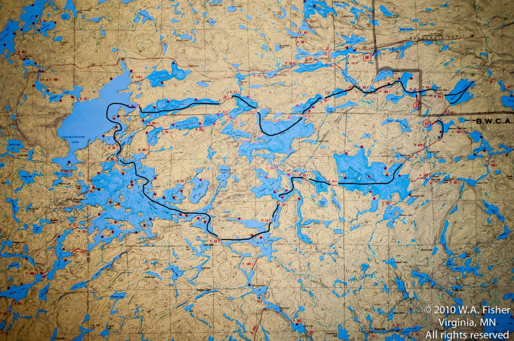 BWCA Routes, Little Saganaga Route