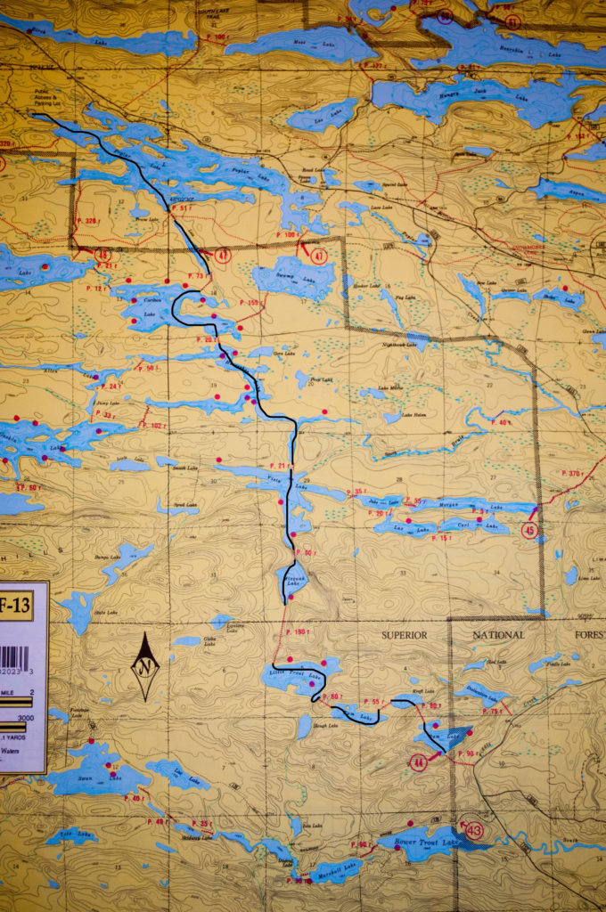BWCA Routes, Poplar-Ram Route