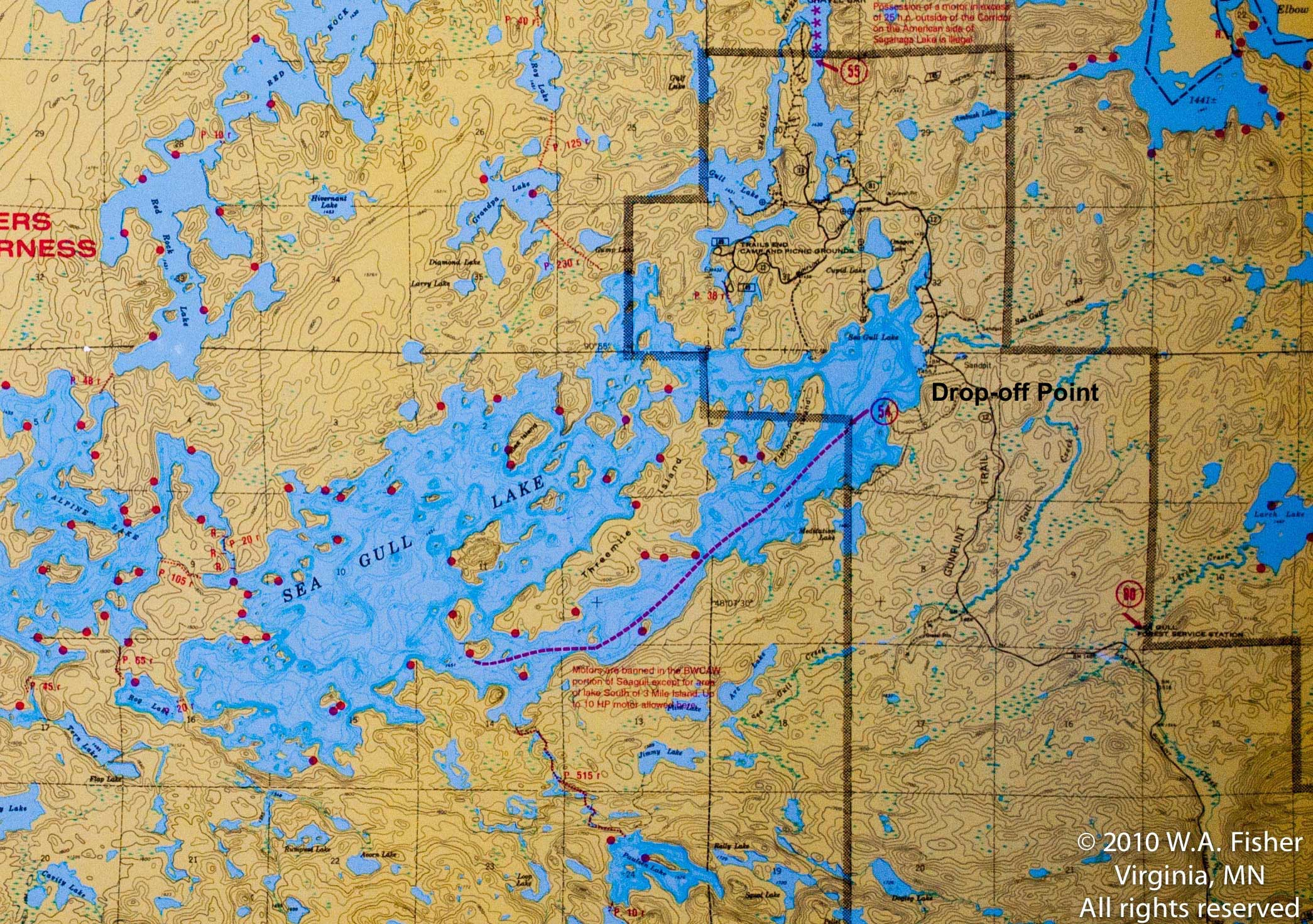 Base Camp Routes Clearwater Outfitters - Bwca entry point map