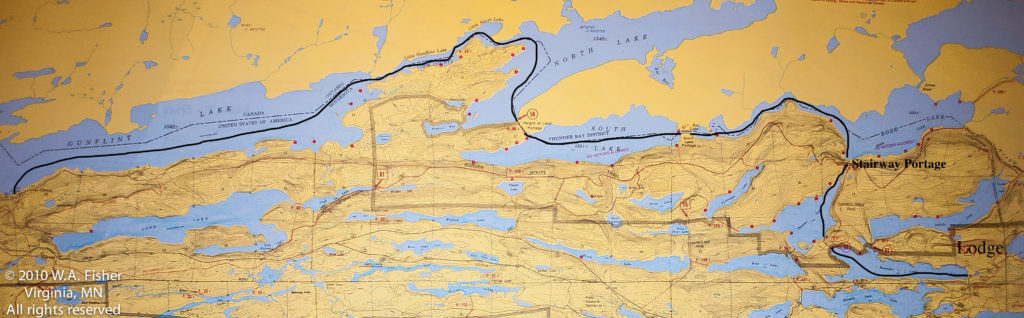 BWCA Routes, West Bearskin Border Route