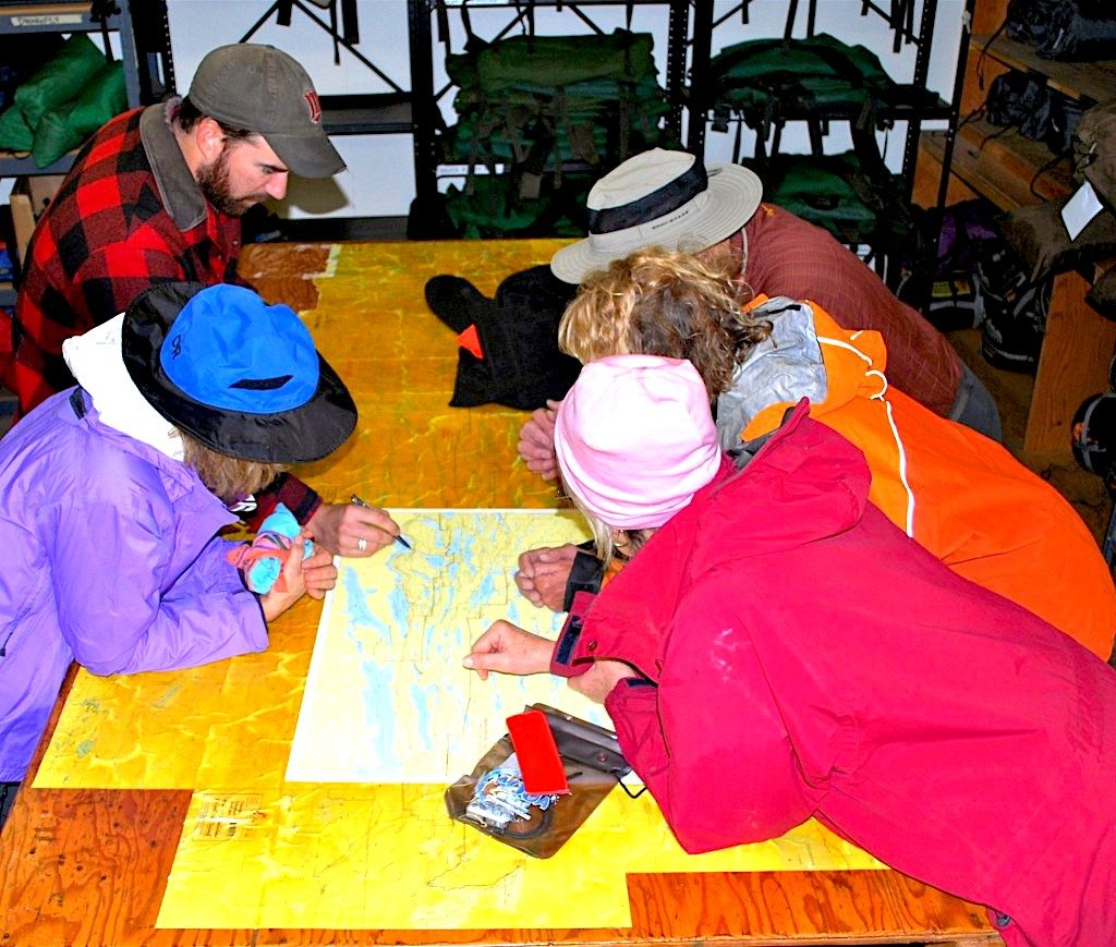 Adventurers prepping for their Complete BWCA Outfitting trip