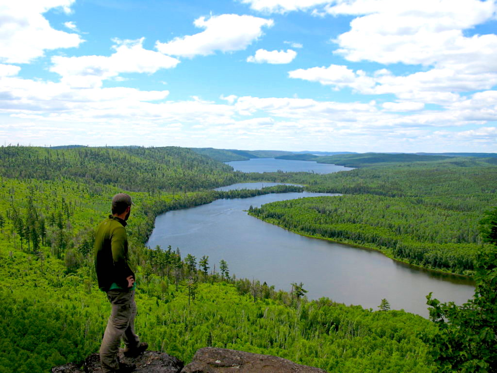 Overlooking a Guided Canoe Trips route
