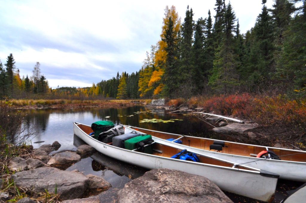 boats prepped for a Complete BWCA Outfitting trip