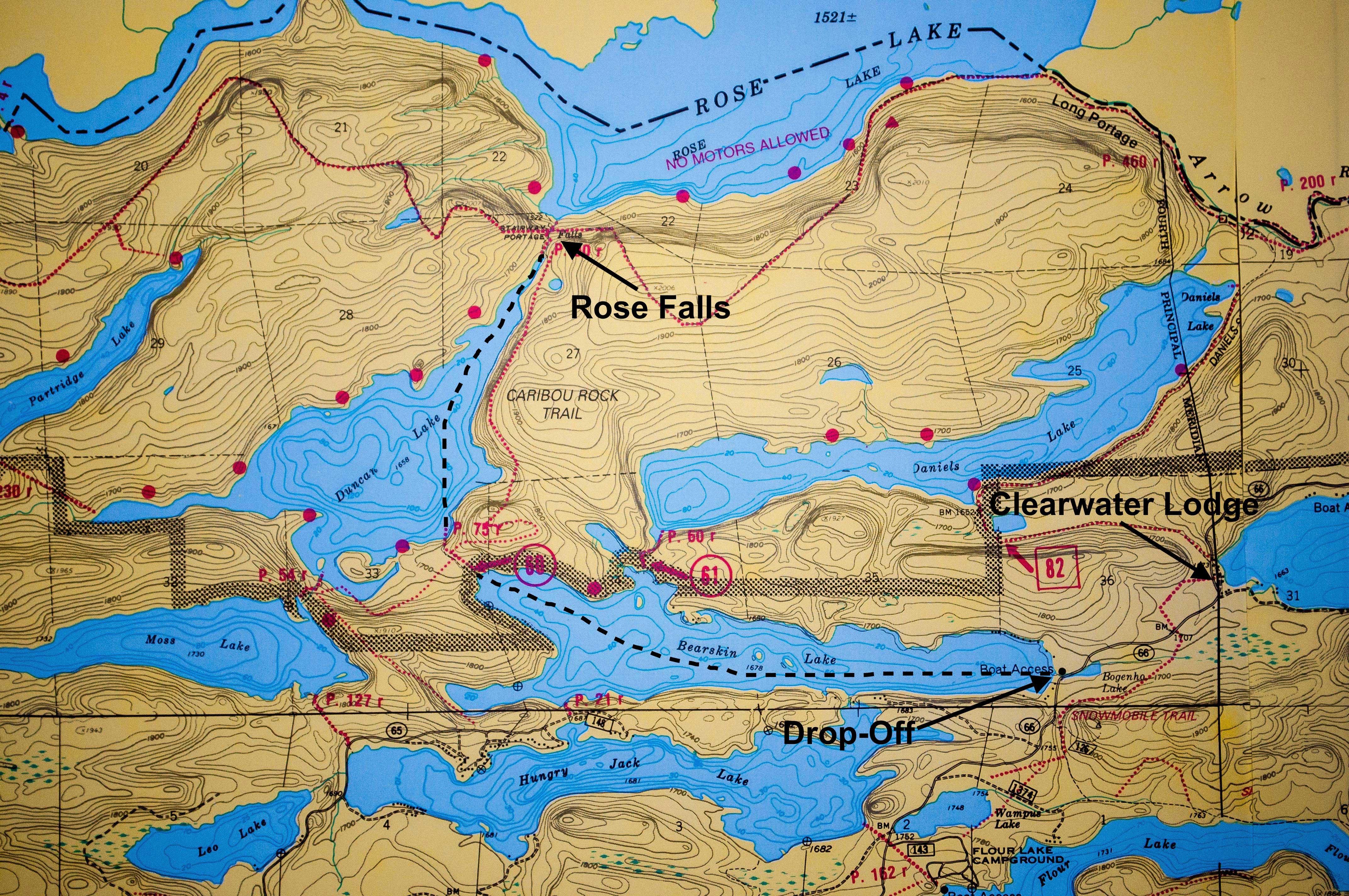 Rose Falls Map