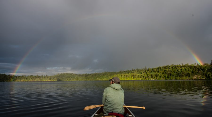 Enjoying the Boundary Waters During Bug Season.